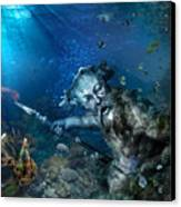 Poseidon Canvas Print by Marc Huebner