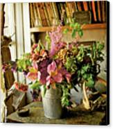 Potting Shed Flowers Canvas Print by Gerry Walden