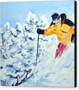 Powder Run Canvas Print