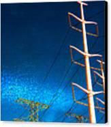 Power Line Light Clouds 2 Canvas Print