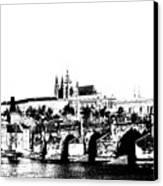 Prague Castle And Charles Bridge Canvas Print by Michal Boubin