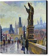 Prague Charles Bridge 04 Canvas Print by Yuriy  Shevchuk