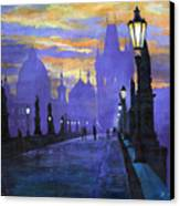 Prague Charles Bridge Sunrise Canvas Print