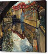 Prague Chertovka 3 Canvas Print by Yuriy  Shevchuk