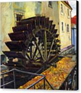 Prague Chertovka Canvas Print