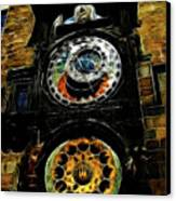 Prague Clock Canvas Print by Joan  Minchak