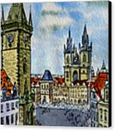 Prague Czech Republic Canvas Print by Irina Sztukowski