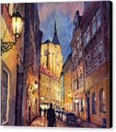 Prague Husova Street Canvas Print by Yuriy  Shevchuk