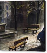 Prague Old Fountain Canvas Print