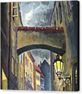 Prague Old Street Love Story Canvas Print