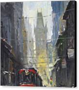 Prague Old Tram 05 Canvas Print