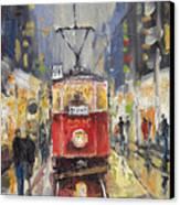 Prague Old Tram 08 Canvas Print