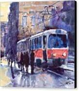 Prague Tram 02 Canvas Print by Yuriy  Shevchuk