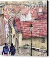 Prague Zamecky Schody Castle Steps Canvas Print by Yuriy  Shevchuk