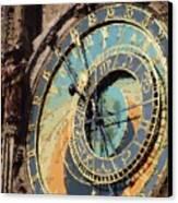Praha Orloj Canvas Print