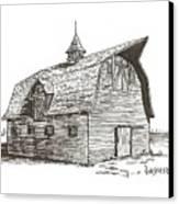 Prairie Barn Canvas Print by Rick Stoesz