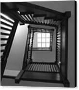 Prairie House Stairs Canvas Print by Anna Villarreal Garbis