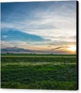 Prairie Sunset Canvas Print by Adnan Bhatti