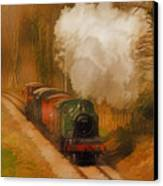 Prairie Train Canvas Print by Skye Ryan-Evans