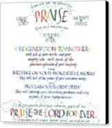 Praise Psalm 145 Canvas Print by Judy Dodds