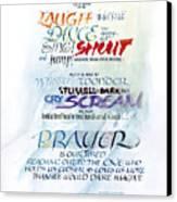 Prayer Canvas Print by Judy Dodds