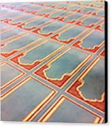 Prayer Mats Printed On Mosque Carpet Canvas Print by Jill Tindall