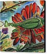 Praying Mantis Welcome - Closeup Canvas Print
