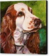 Precious Spaniel Canvas Print by Susan A Becker