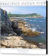 Precipice Ocean View Canvas Print