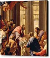 Presentation In The Temple Canvas Print by Simon Vouet