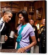 President And Michelle Obama Attend Canvas Print