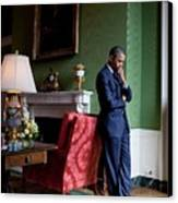 President Barack Obama Waits Canvas Print by Everett