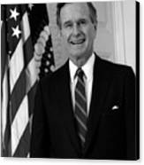 President George Bush Sr Canvas Print by War Is Hell Store