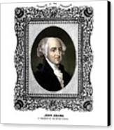 President John Adams Portrait  Canvas Print by War Is Hell Store