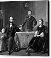 President Lincoln And His Family  Canvas Print by War Is Hell Store