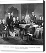 President Lincoln His Cabinet And General Scott Canvas Print