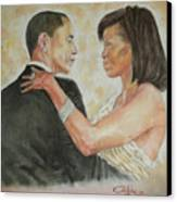 President Obama And First Lady Canvas Print by G Cuffia