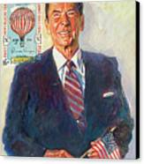 President Reagan Balloon Stamp Canvas Print by David Lloyd Glover