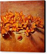 Pretty Little Orange Flowers - Kankaambaram Canvas Print
