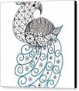 Pretty Peacock Canvas Print by Paula Dickerhoff