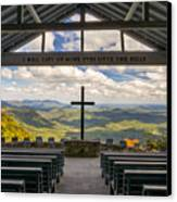 Pretty Place Chapel - Blue Ridge Mountains Sc Canvas Print by Dave Allen