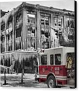 Pride, Commitment, And Service -after The Fire Canvas Print by Jeff Swanson