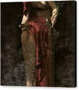 Priestess Of Delphi Canvas Print by John Collier