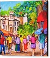 Prince Arthur Street Montreal Canvas Print