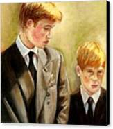 Prince William And Prince Harry Canvas Print