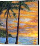 Princeville Beach Palms Canvas Print