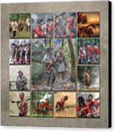 Print Collection French And Indian War Canvas Print by Randy Steele