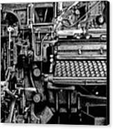 Printing Press Canvas Print by Kenneth Mucke