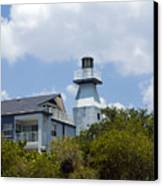 Private Lighthouse On The Indian River Lagoon In  Melbourne Florida Canvas Print