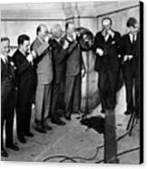 Prohibition Wet Congressmen Drinking Canvas Print by Everett